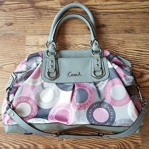 Pink and Grey Coach Bag